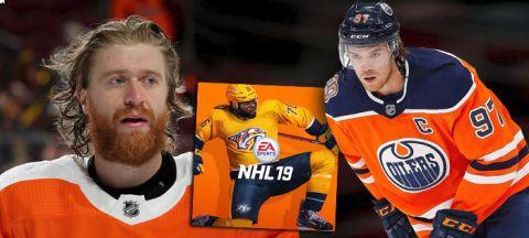 Mezi nejlepšími 50 hráči v novém vydání hry NHL 19 je pouze jeden Čech - Jakub Voráček. Hodnocení vládne hvězdný Connor McDavid •Foto: Koláž iSport.cz