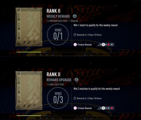 FUT týdenní odměny •Foto: EA Sports