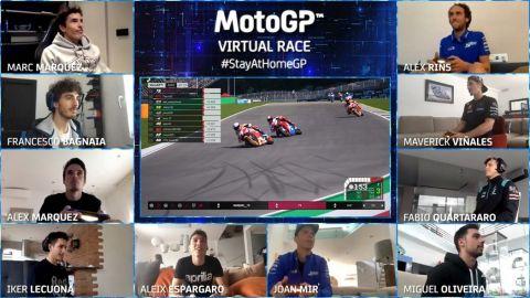 Hvězdy MotoGP si zazávodily ve virtuálním světě •Foto: Reuters