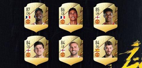 Ratingy několika hráčů z Manchesteru United •Foto: EA Sports