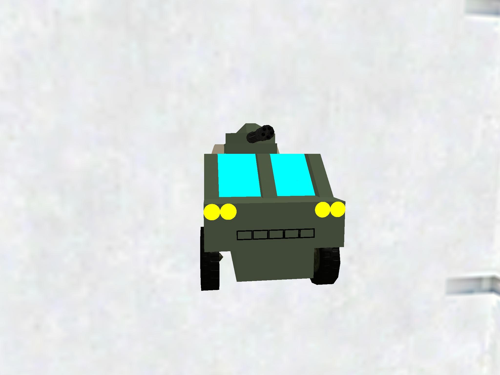 Armed garbage truck