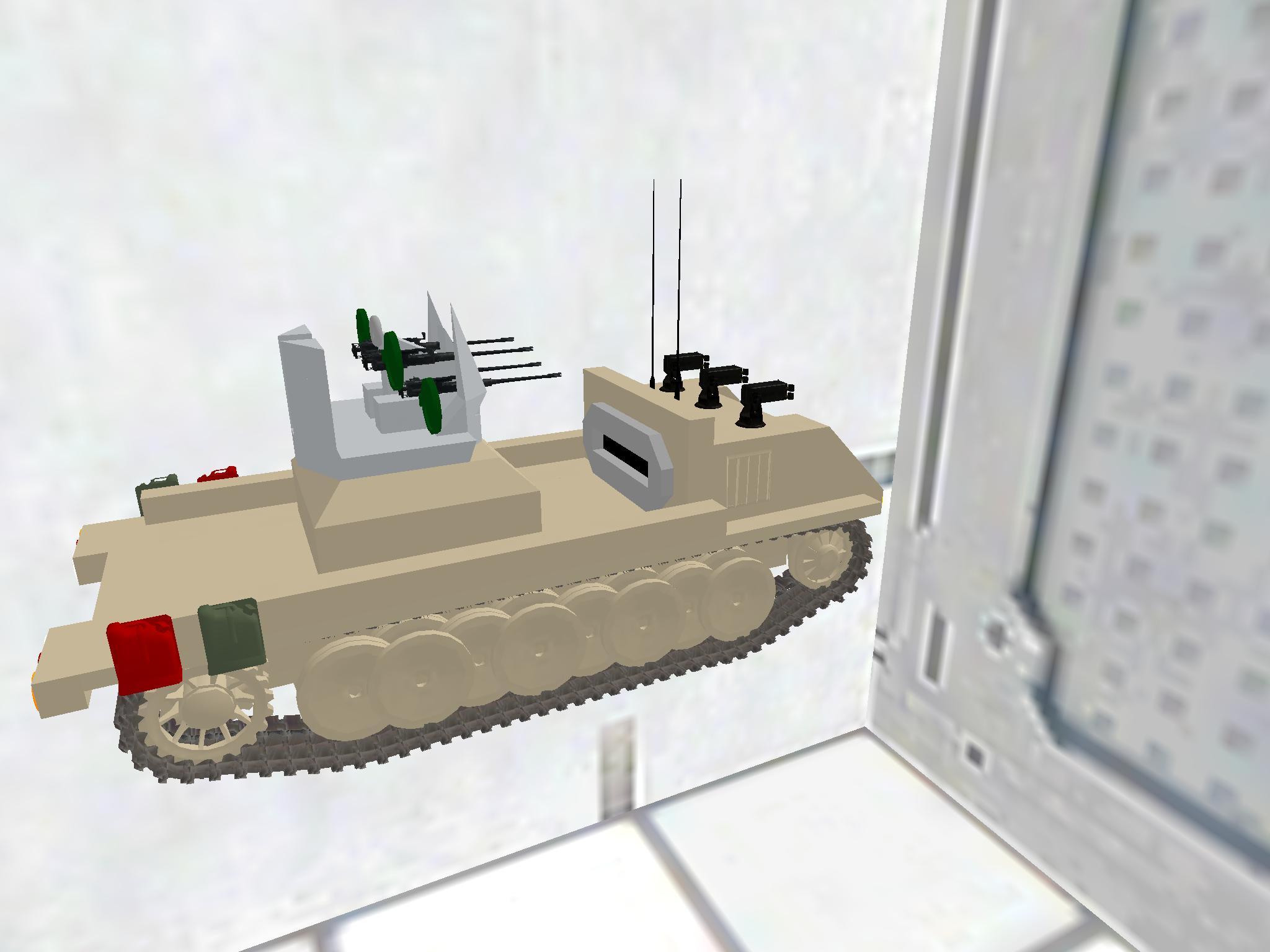 AA-Gun On a Tracked vehicle