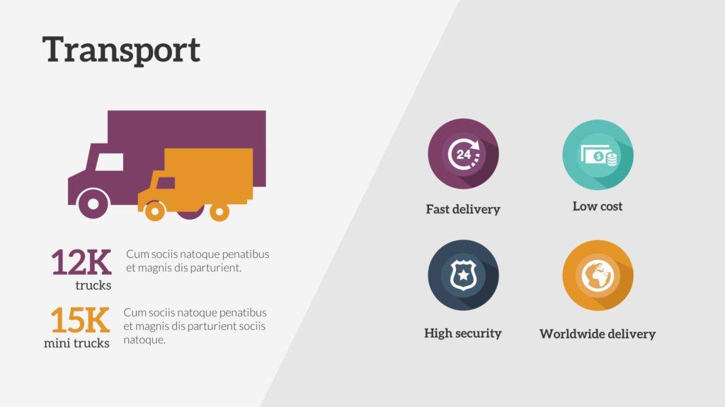 Transport Infographic PowerPoint Slide