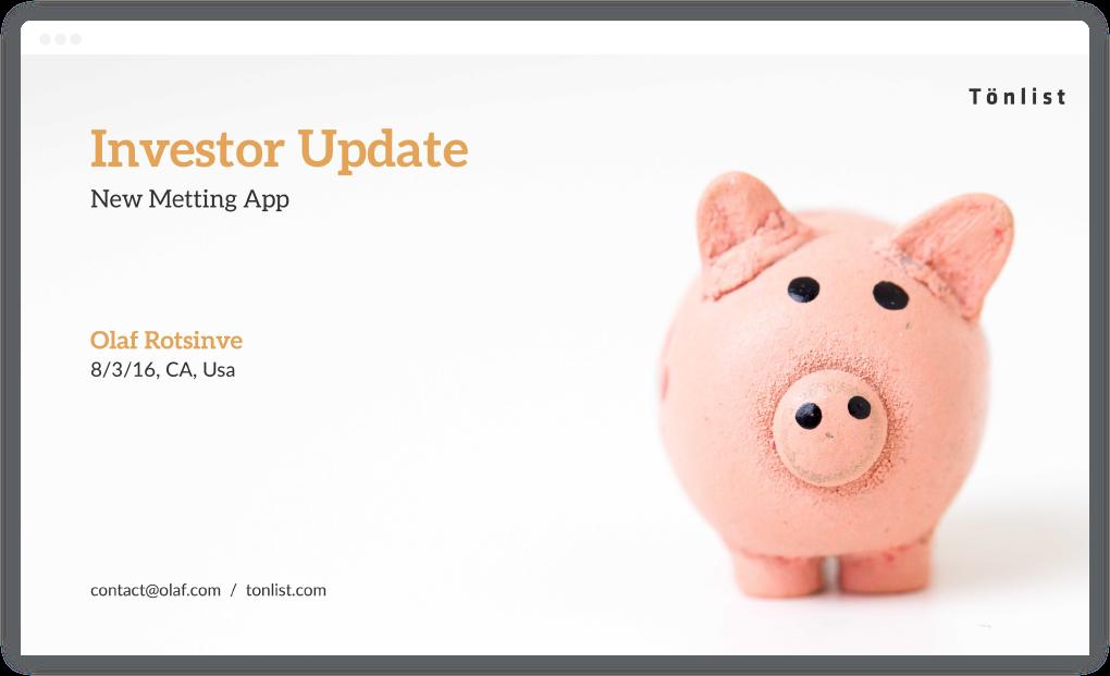 Introduction Slide / Startup Investor Update / SlideCamp