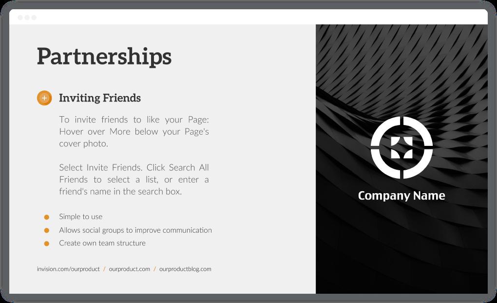 Partnerships - Startup Investor Update
