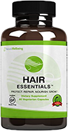 Hair Essentials Natural Hair Growth Supplement for Women and Men, 90 Count