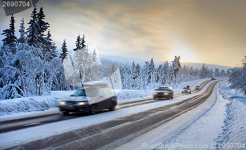 Nordic winter road