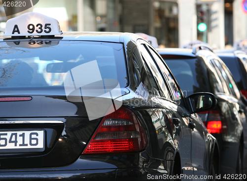 Taxi queue Oslo Norway