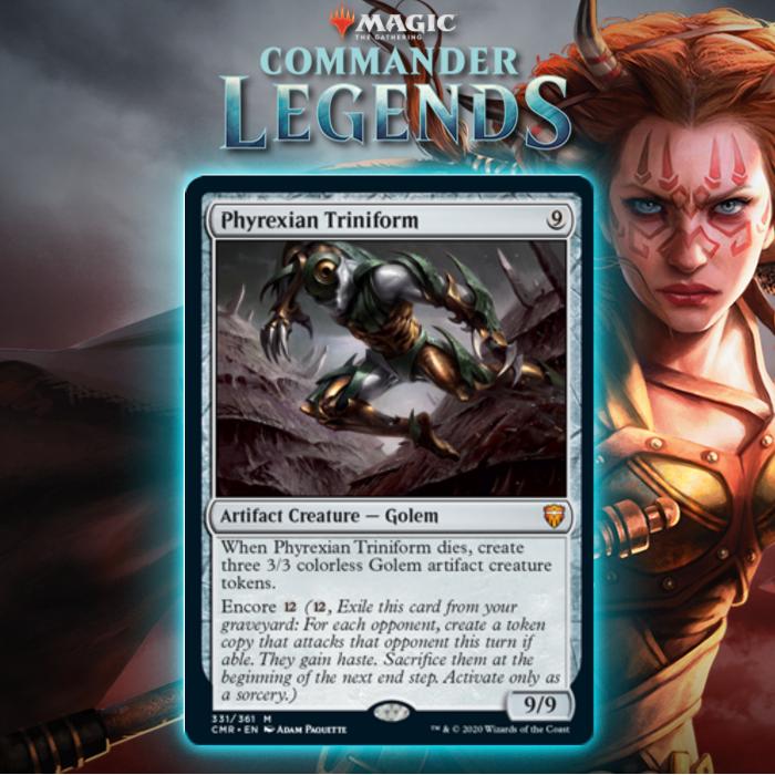 Phyrexian Triniform Introduces Encore Mechanic From Commander Legends