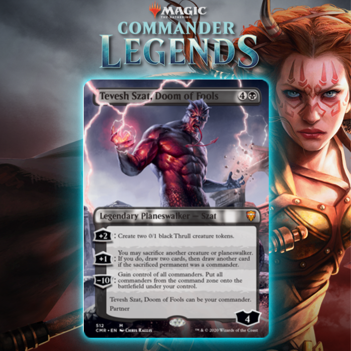 Black Gets Black Partner Planeswalker In Tevesh Szat, Doom of Fools In Commander Legends