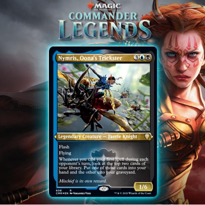 Dimir Gets Legendary Faerie Knight In Nymris, Oona's Trickster In Commander Legends