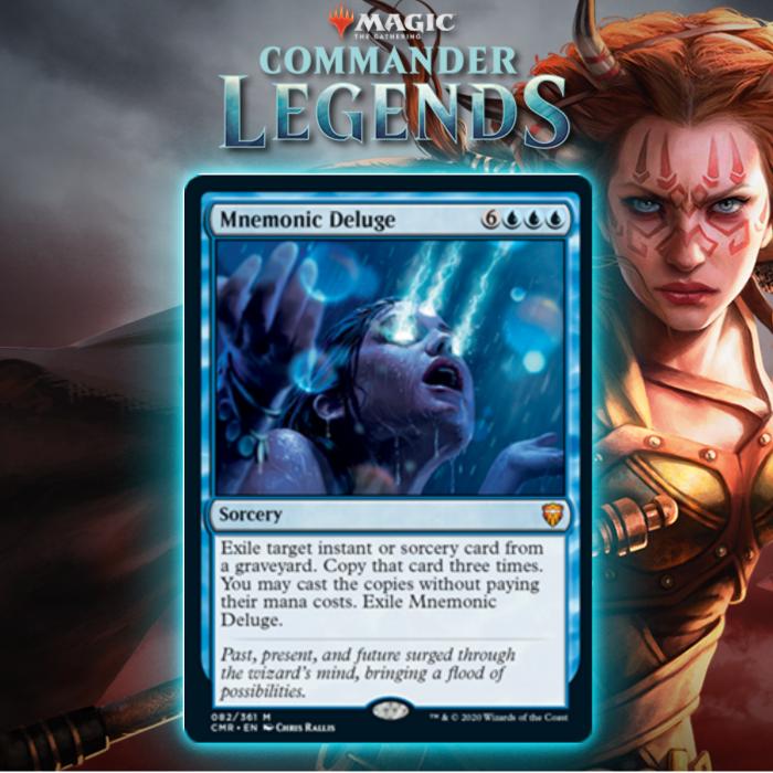 Blue Gets Big Mana Sorcery In Mnemonic Deluge In Commander Legends
