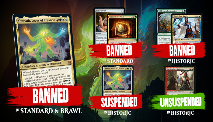 Omnath, Lucky Clover, Escape to the Wilds Headline WotC Surprise Banned & Restricted Announcement