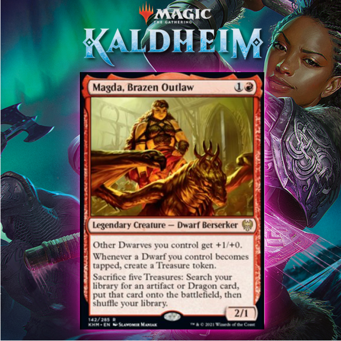 Finding A Home For Magda, Brazen Outlaw In Kaldheim Standard