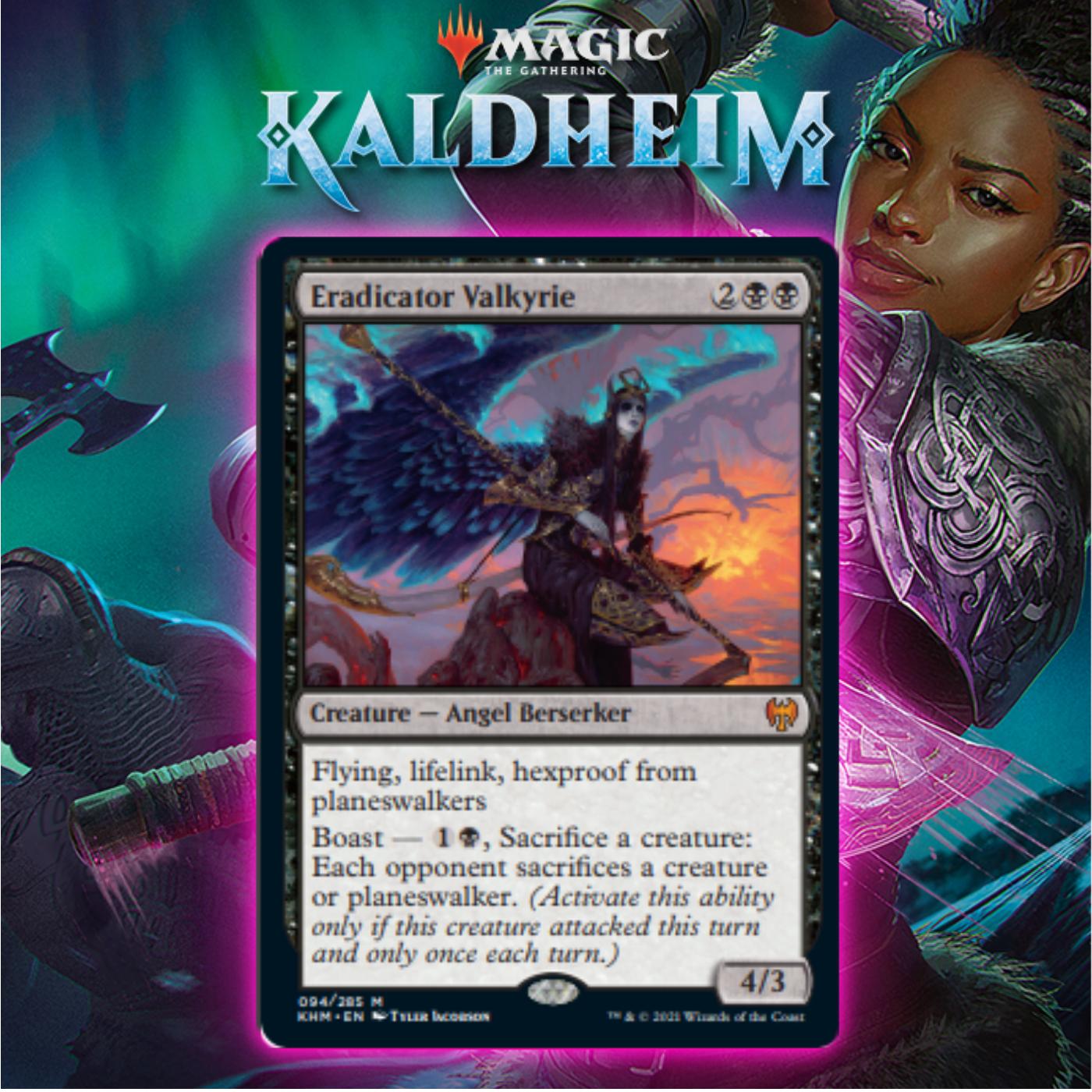 Black Gets Mythic Angel In Eradicator Valkyrie In Kaldheim