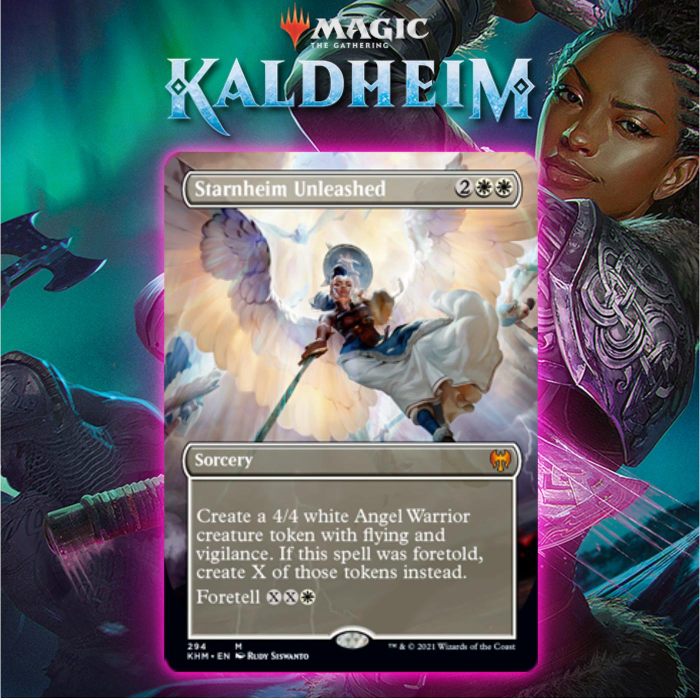 White Gets Angel-Generating Foretold Sorcery In Starnheim Unleashed In Kaldheim