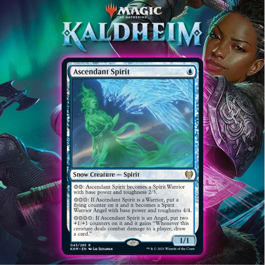 Blue Gets Figure of Destiny Snow Variant In Ascendant Spirit In Kaldheim