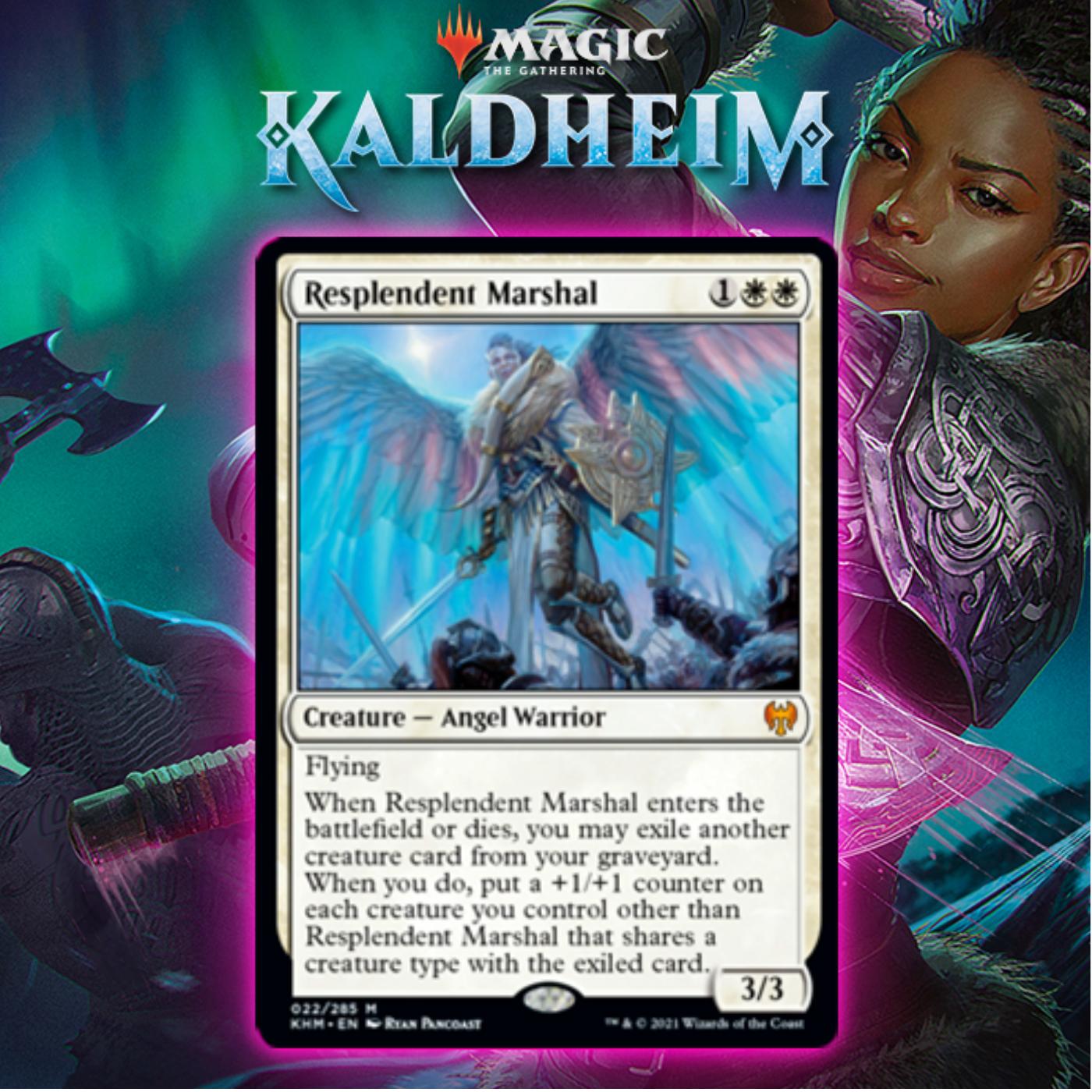 White Gets Mythic Rare Angel Warrior In Resplendent Marshall In Kaldheim