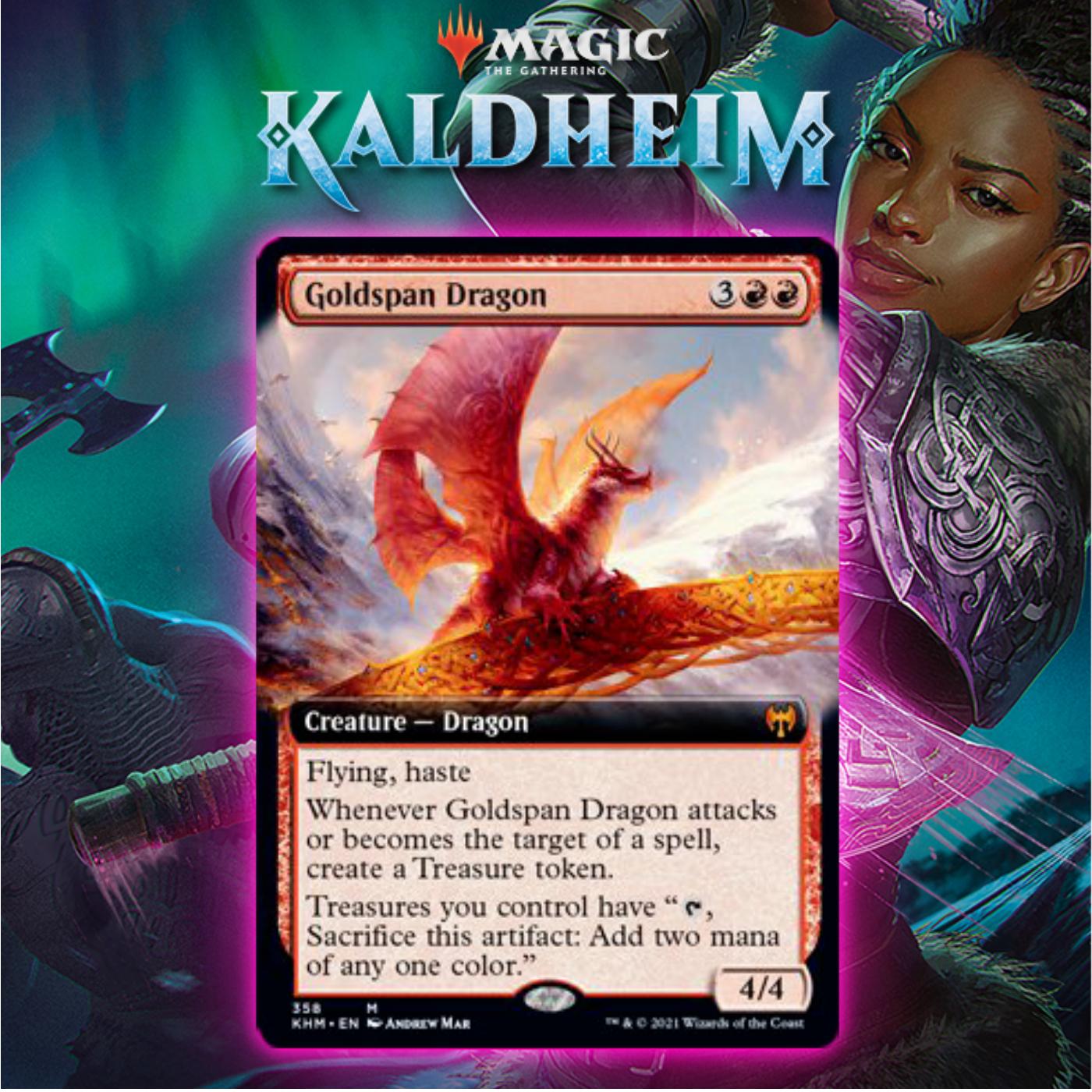 Bringing Glory Back To Dragons With Goldspan Dragon In Kaldheim Standard