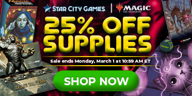 Save 25% On All Gaming Supplies Though Monday!
