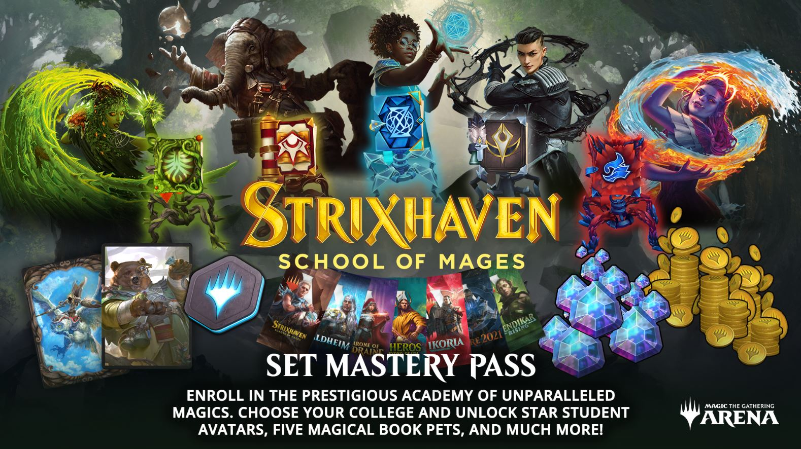 WotC Releases Strixhaven Set Mastery Pass Details For MTG Arena
