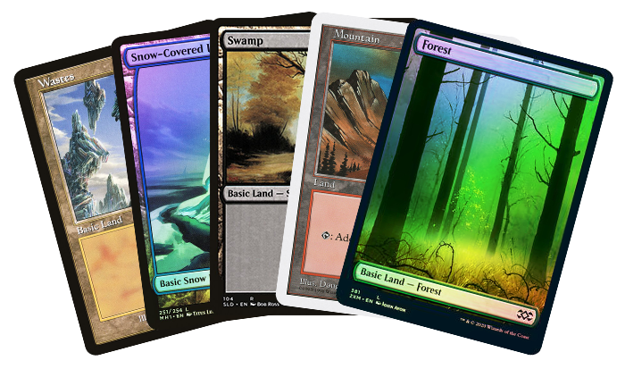 Save 20% On All MTG Basic Lands Through Monday!