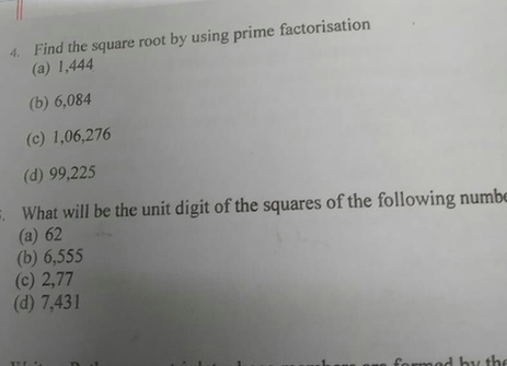 4 Find The Square Root By Using Prime Factorisation A 1 4 Scholr The fourth digit of z is the largest prime factor of 35. scholr