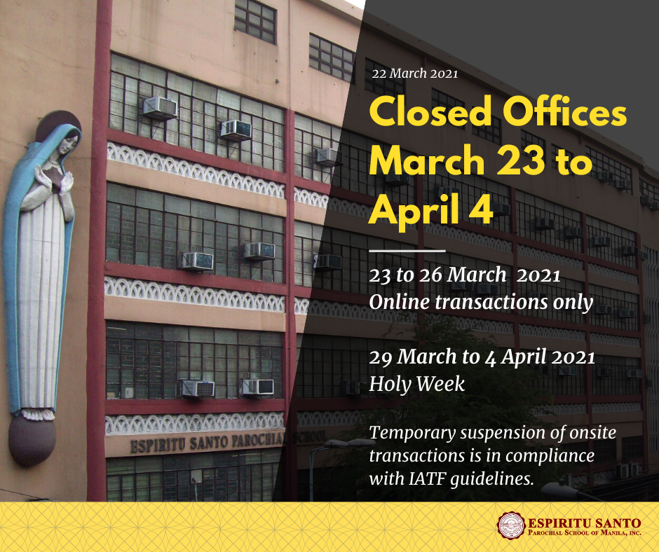 Closed Offices March 23 to April 4