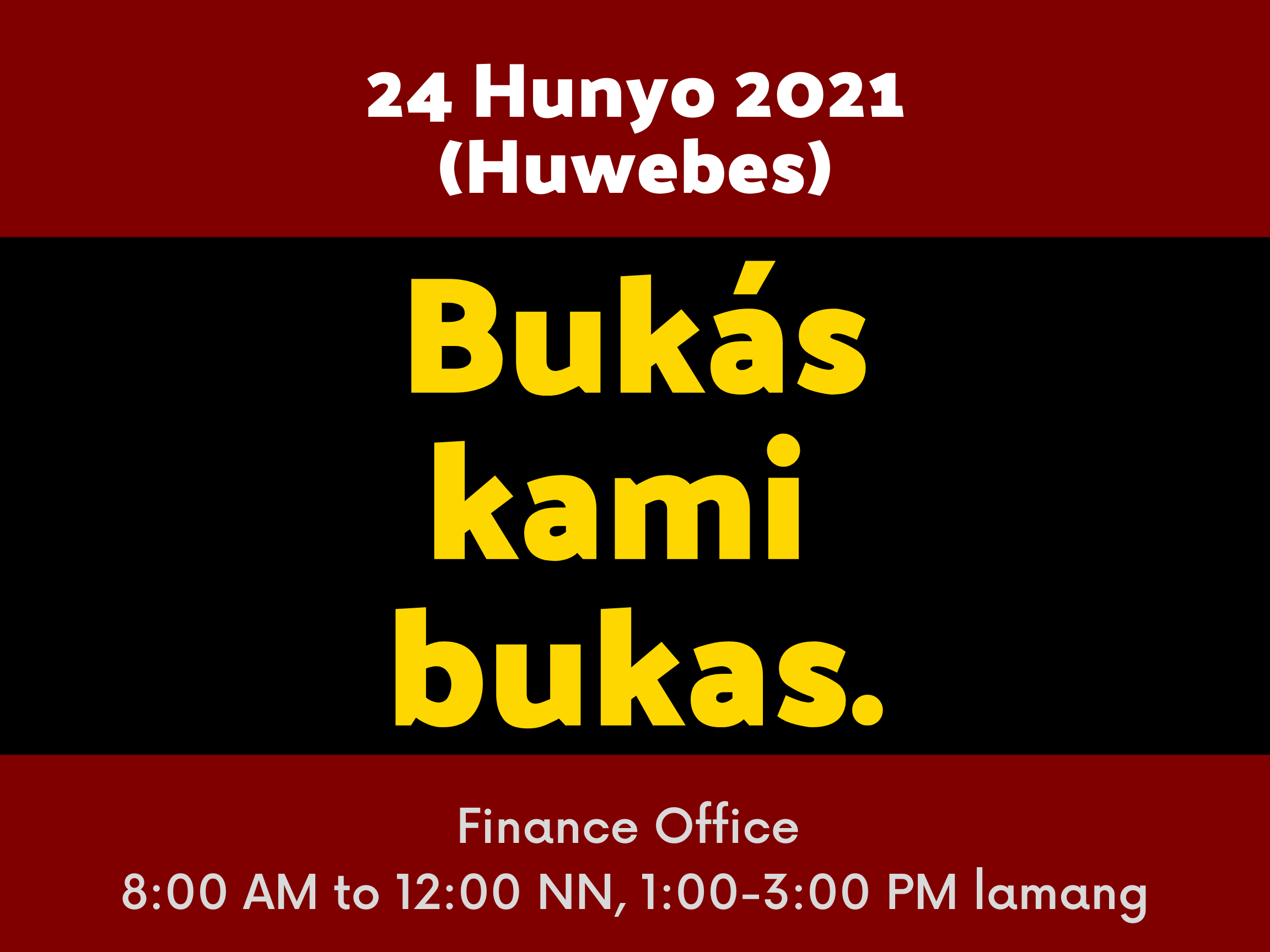 June 24 (Manila Day) Offices are Open
