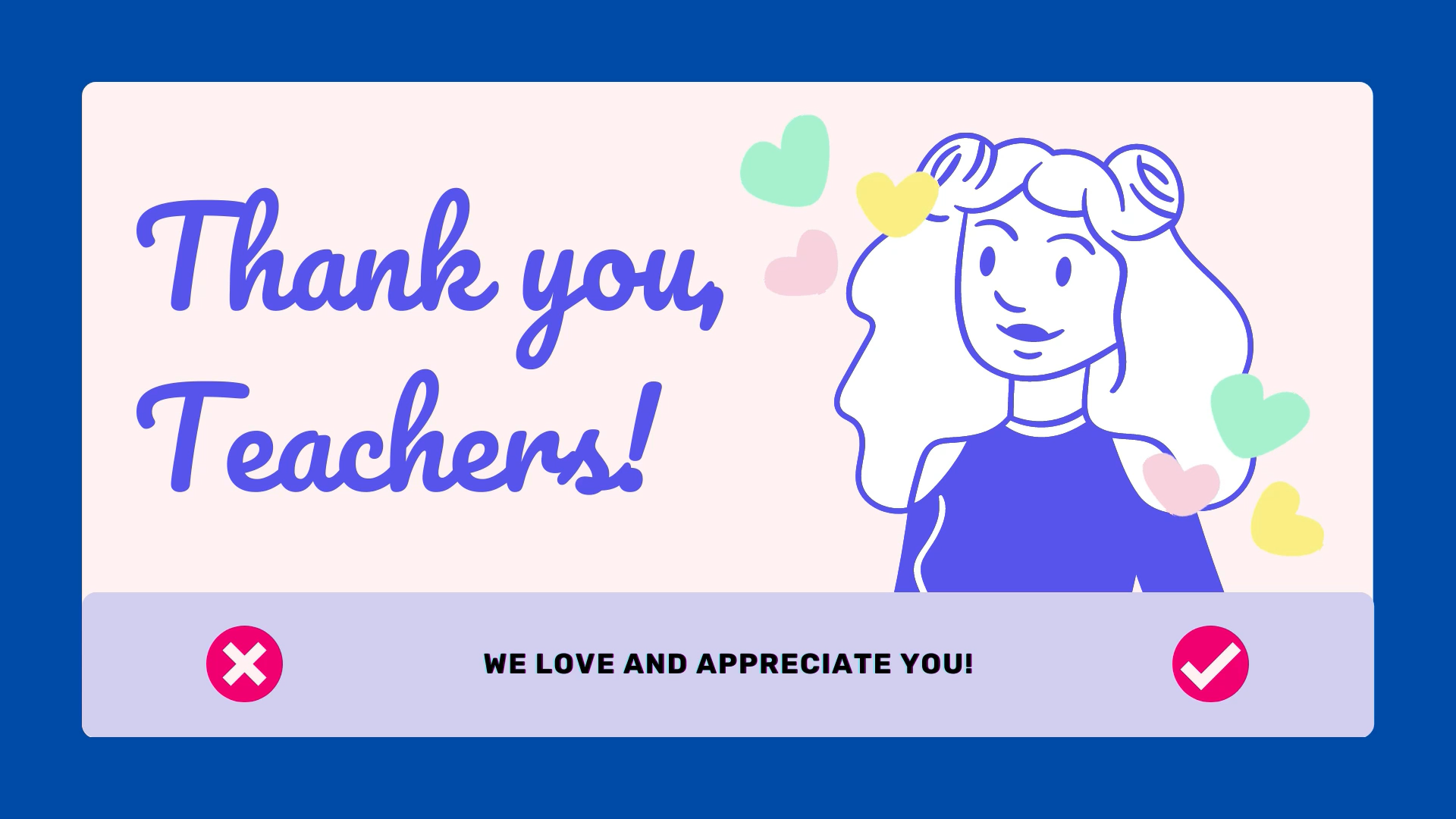 Congratulations for a job well done, MCS teachers! You have proven that all things are possible with faith and trust in the Lord!