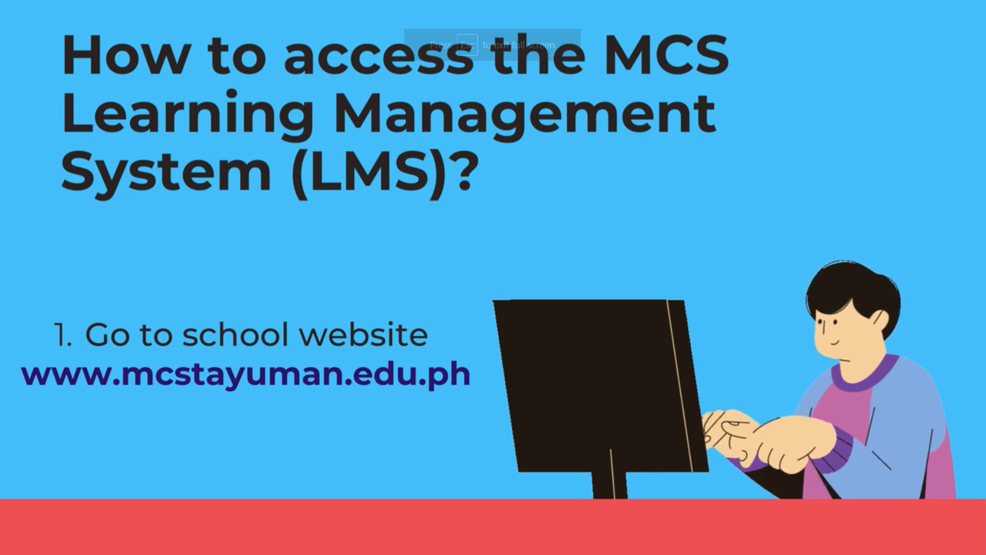 How to access the MCS Learning Management System (LMS)?
