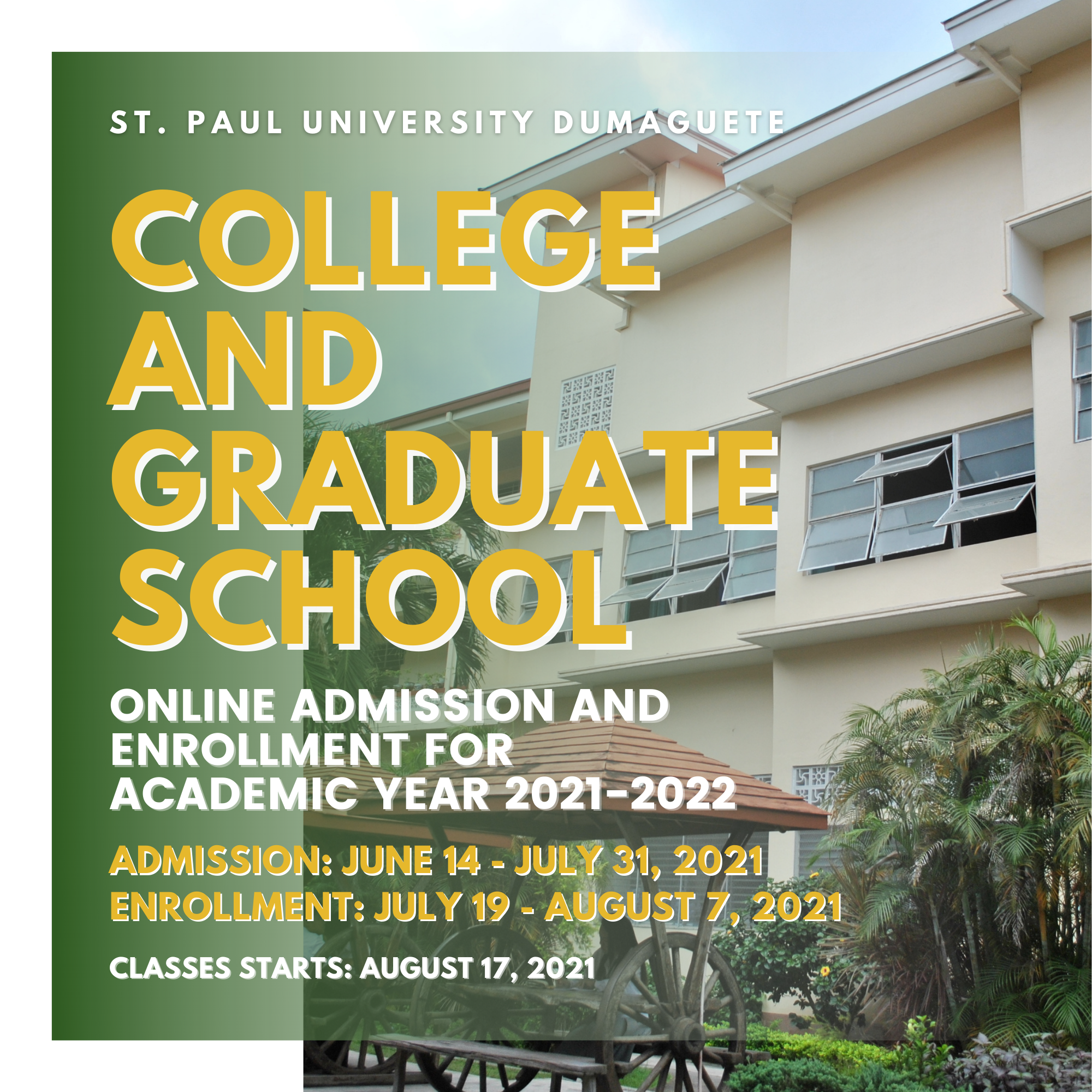 College And Graduate School Online Admission Procedure For Academic Year 2021-2022