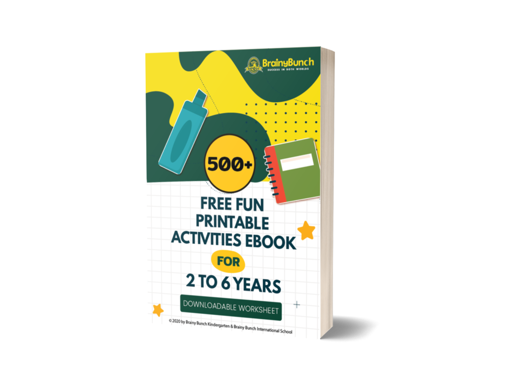 500+ Free Fun Printable Activities Ebook For 2 to 6 Years Children