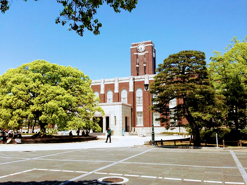 The clock tower at Kyoto University, one of the symbol monuments of Kyoto University