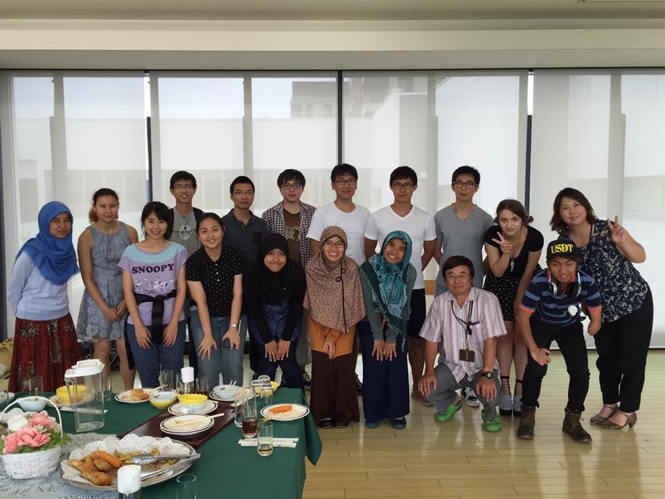 Exchange students at the School of International Education at Kanazawa Univeristy