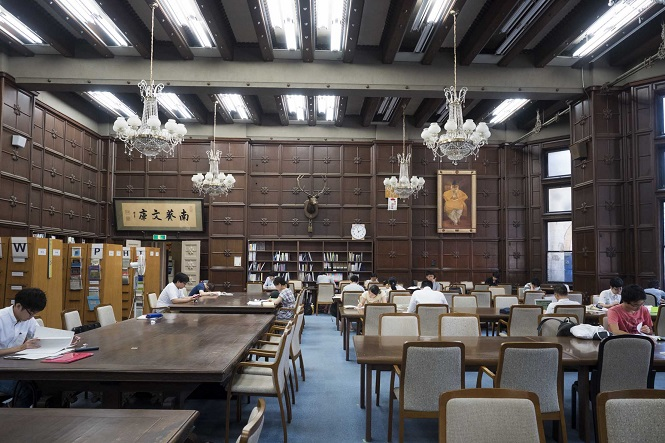 The library in the University of Tokyo