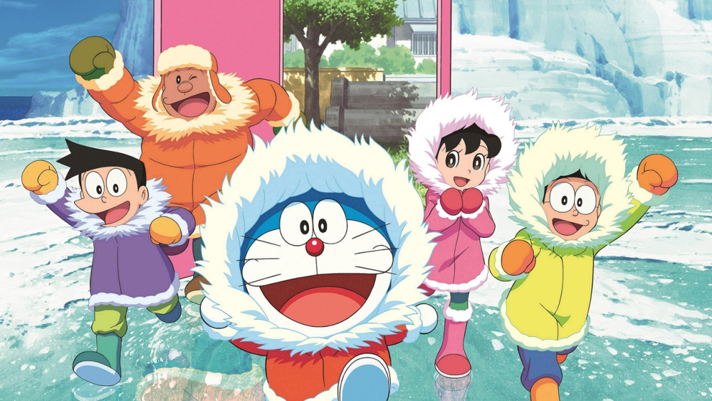Doraemon the robot cat and his friends.