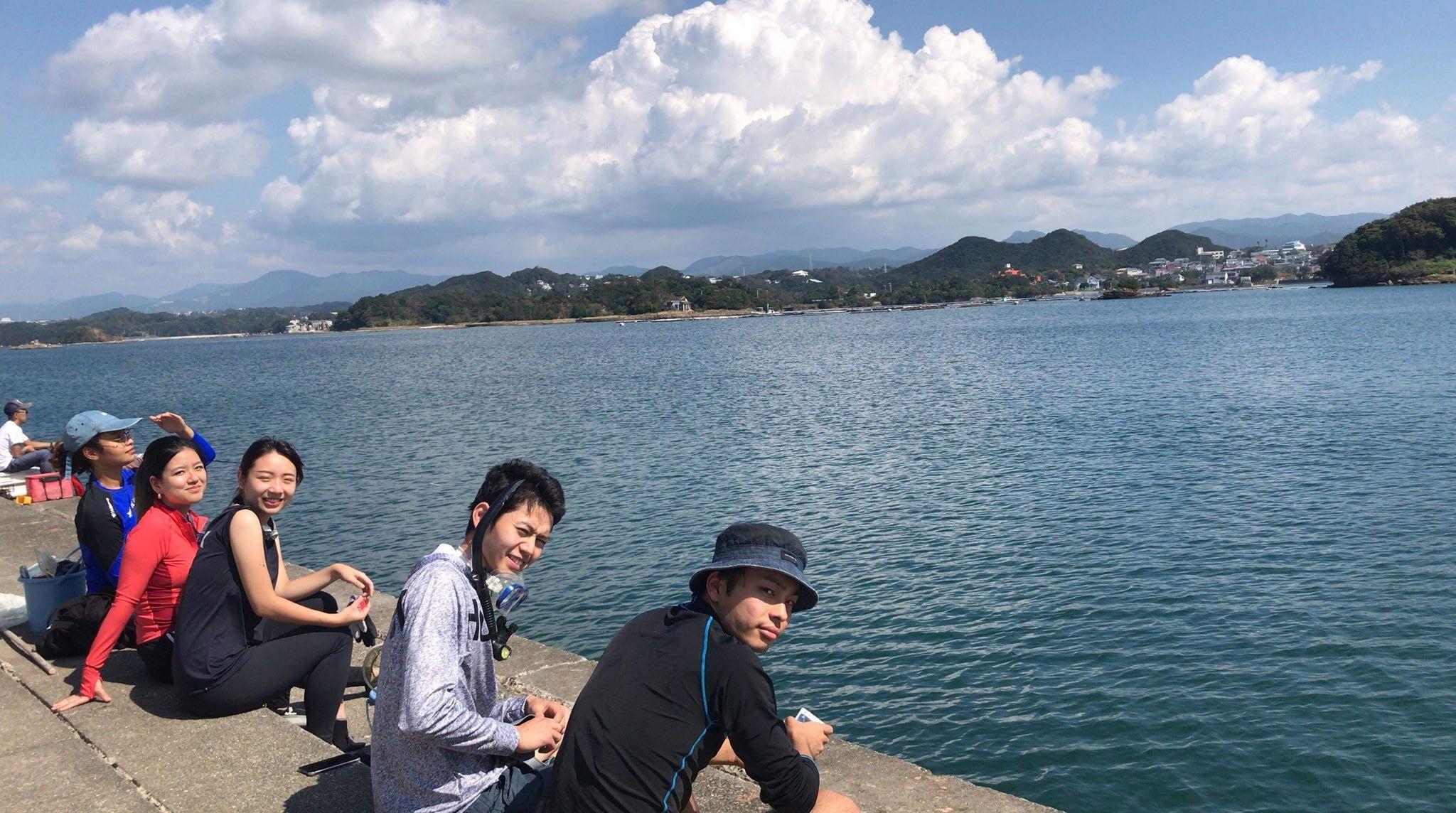 Marine field work in Shirahama, Wakayama.