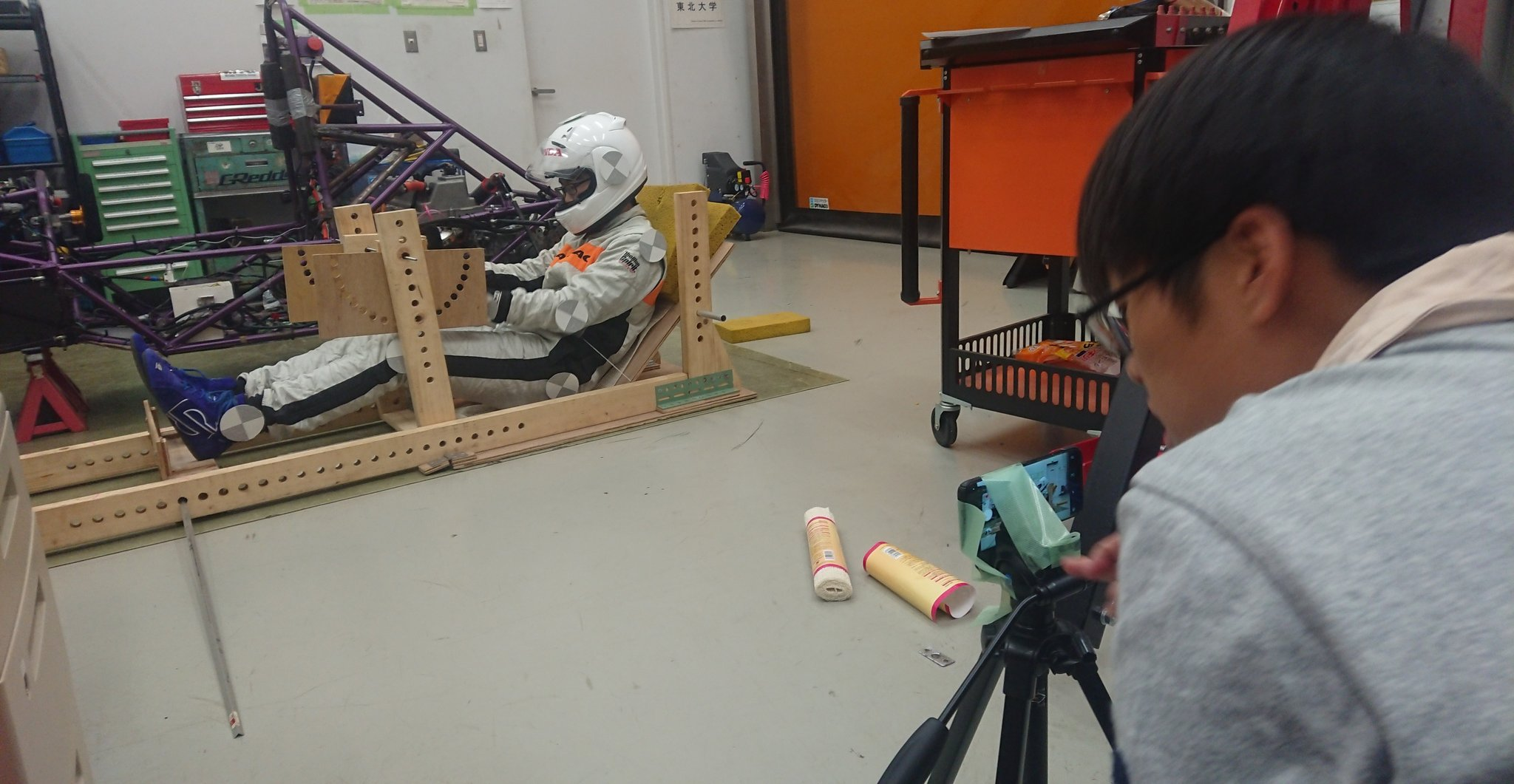 Designing the driver position of the car at Tohoku University