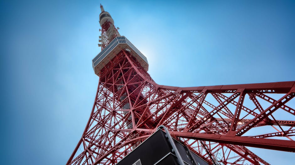 Tokyo Tower on a clear day.