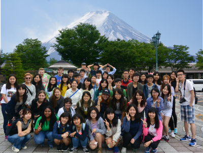 Students that are part of the intensive Japanese Language program at Mt. Fuji