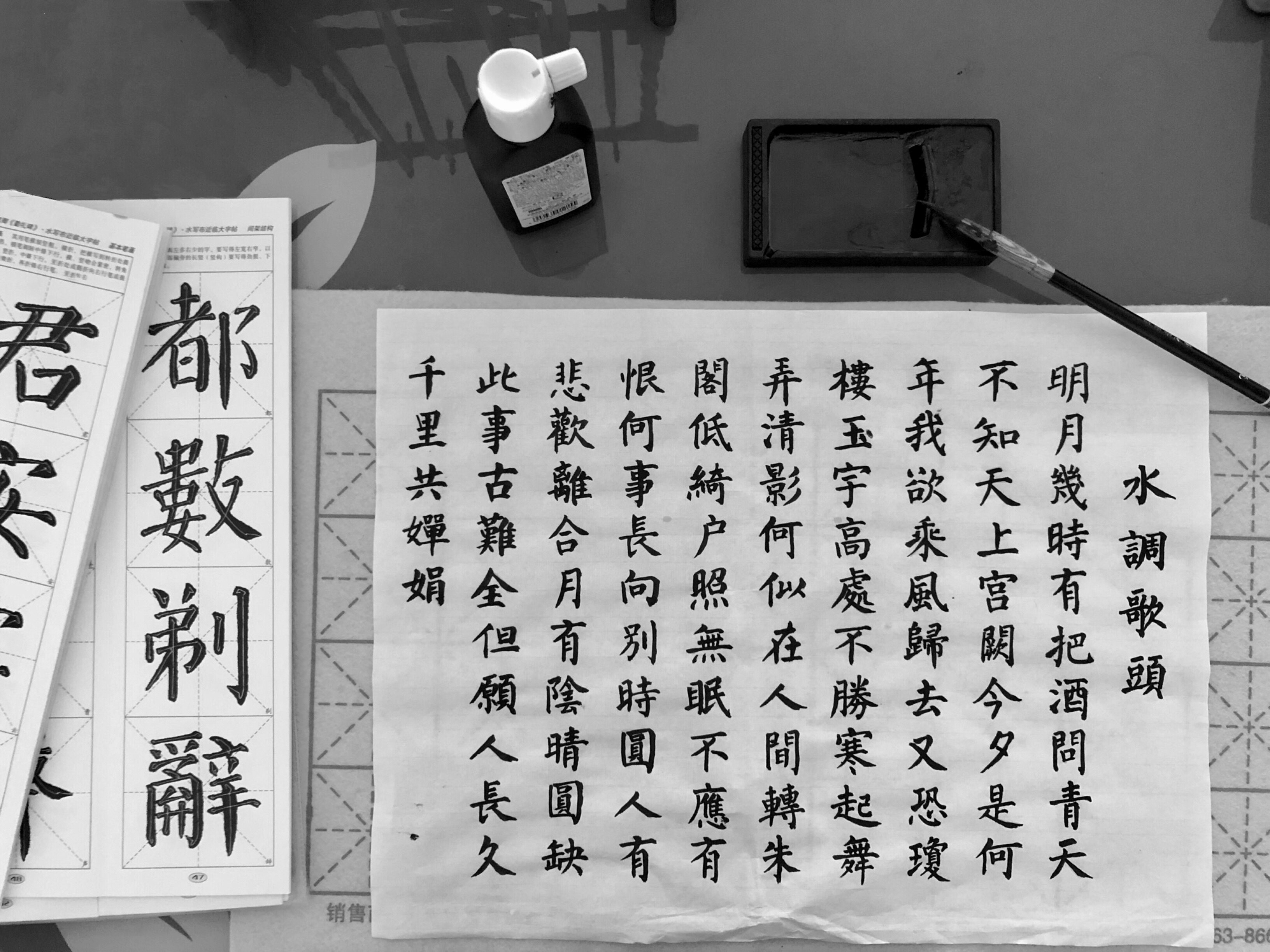 A calligraphy painting of kanji