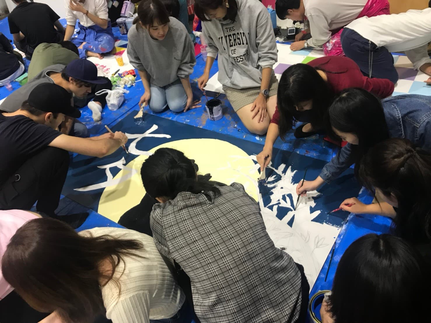 Students are preparing for Waseda sai
