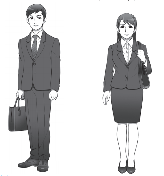 Favorable job hunting styles for man and women in Japan.