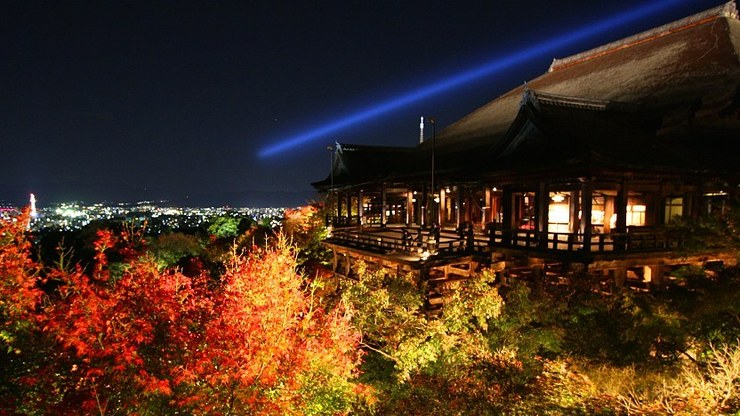 Kiyomizudera during fall illuminations