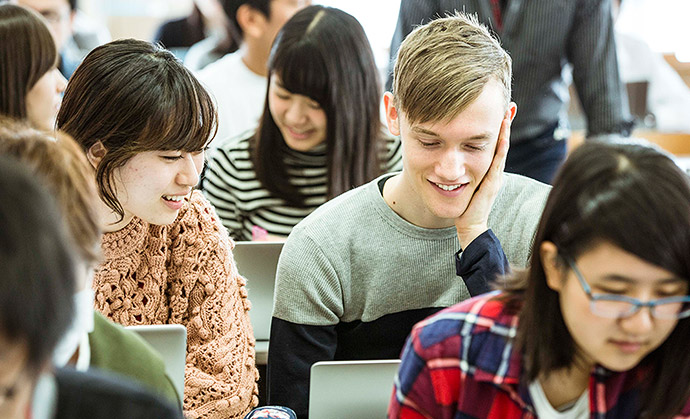 International students can earn undergraduate and graduate degrees at Keio University