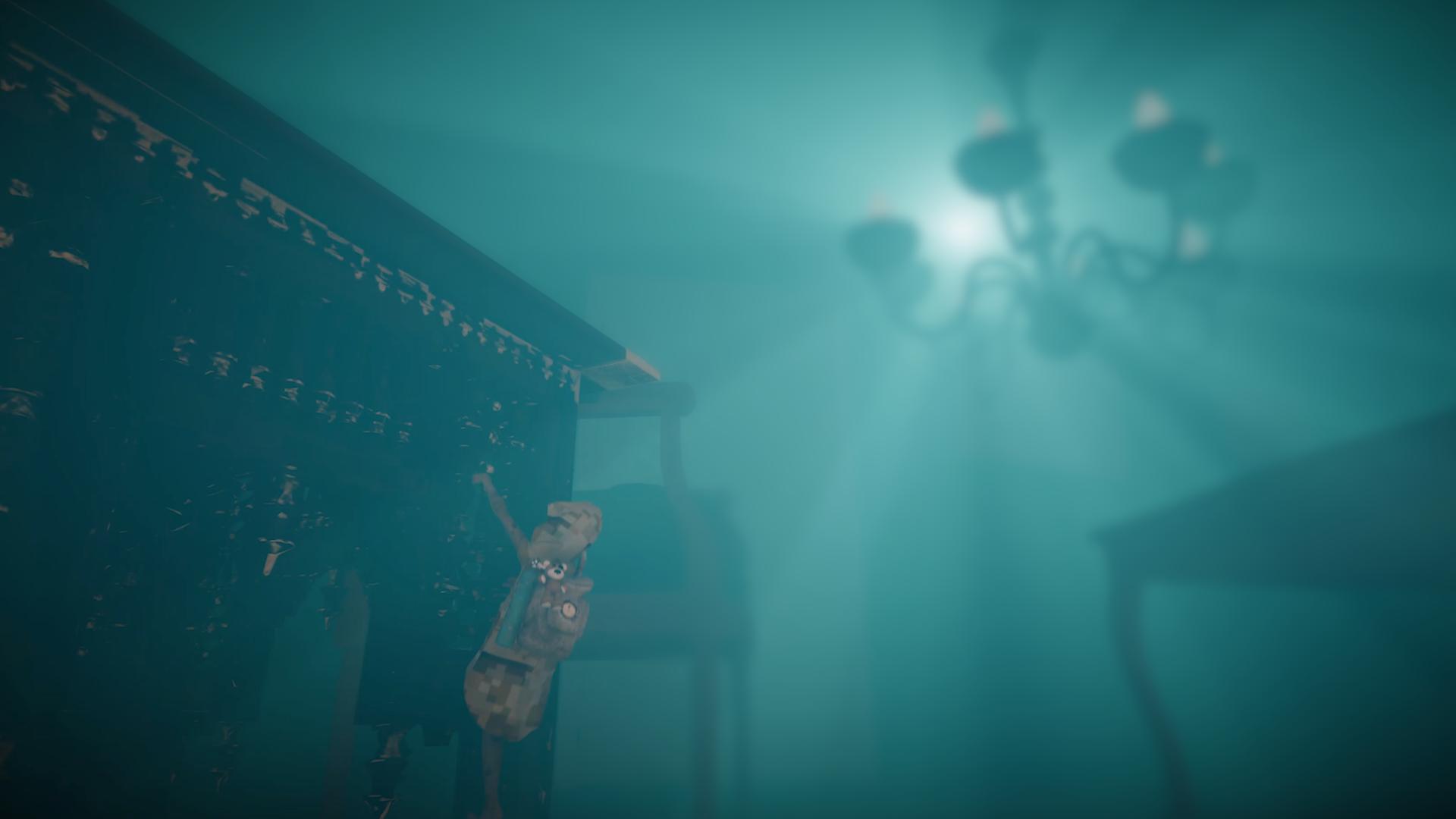 underwater interior film still