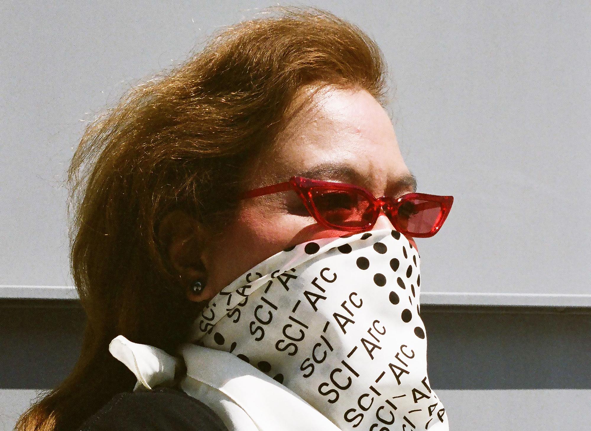 Becky Cuenco glasses bandana