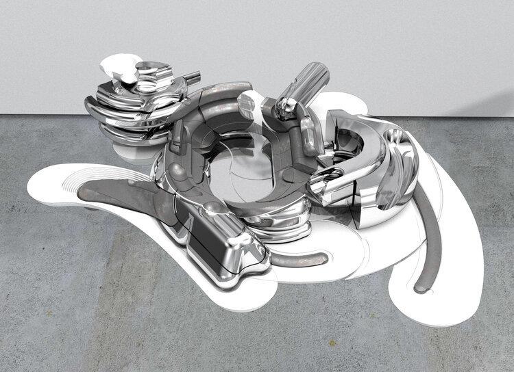 metallic architecture model on concrete floor