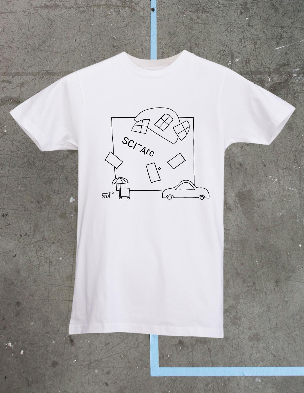 scai arc white tshirt merchandise